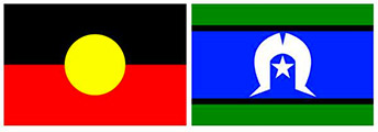Aboriginal and Torres Straight Island flags
