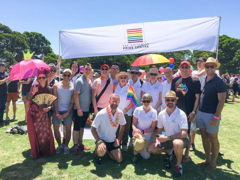 Pride centre at Pride march