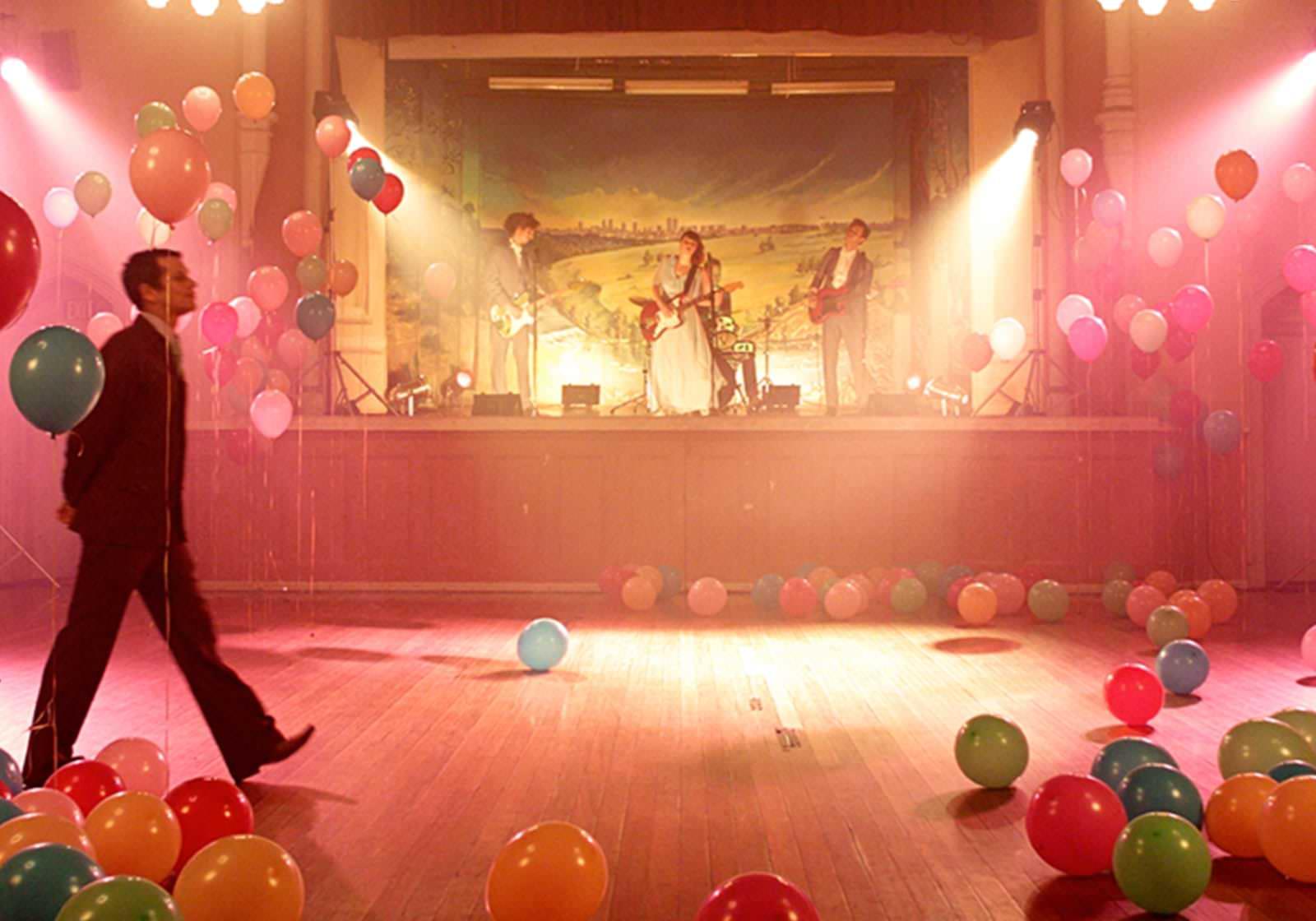 Ballroom with band and balloons
