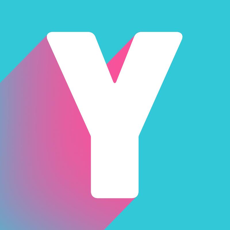 A big Y in trans colours