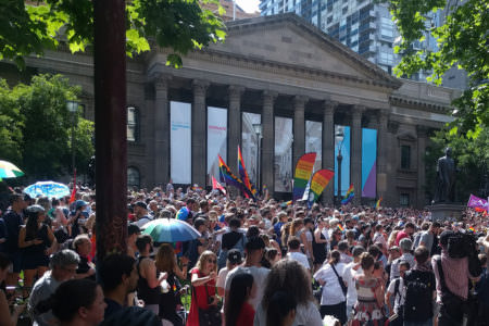 Members and Allies of the LGBTIQ community celebrate equality