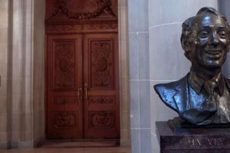 A bust of Harvey Milk