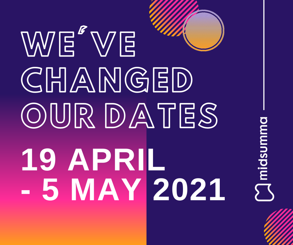 New Midsumma Festival 2021 dates - 19 April to 5 May