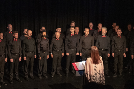 The Low Rez Choir in action