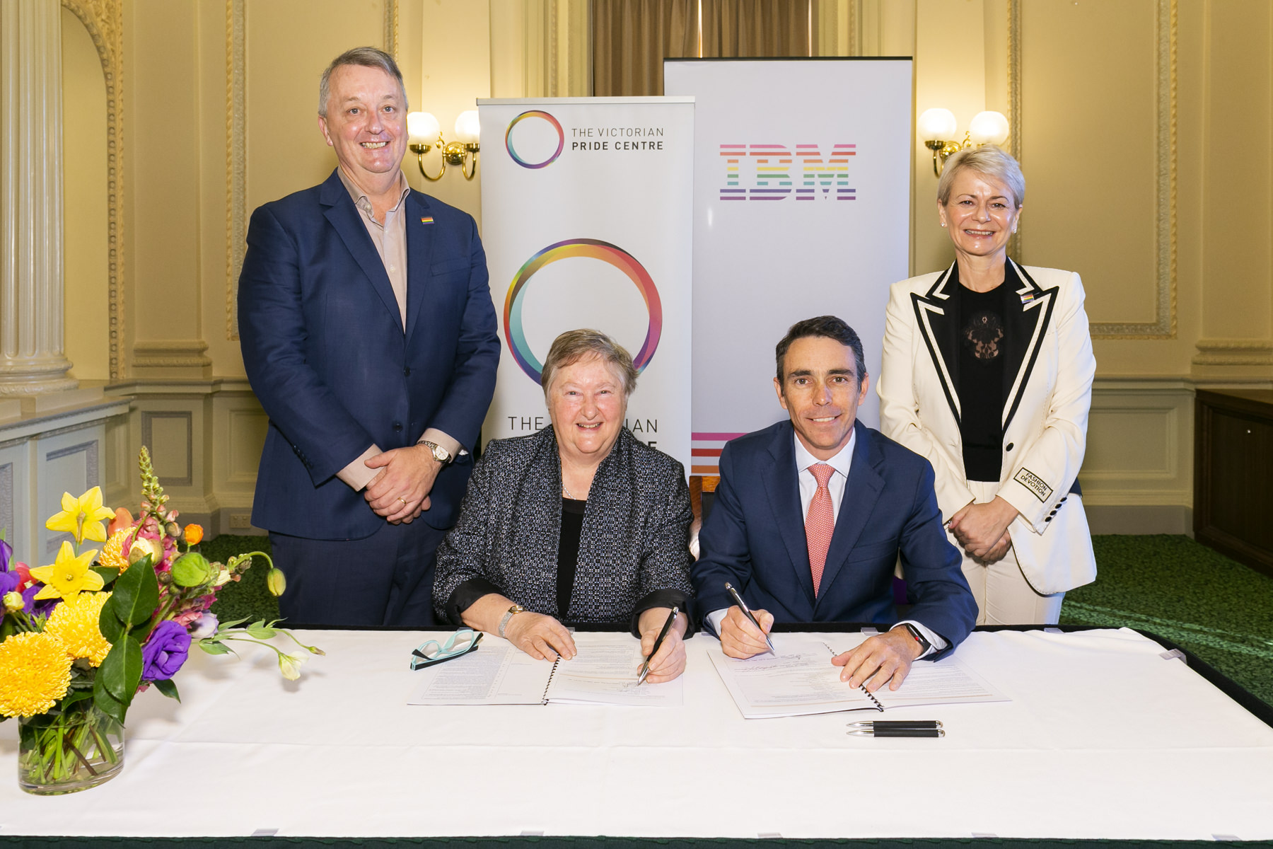 Signing of partnership with IBM