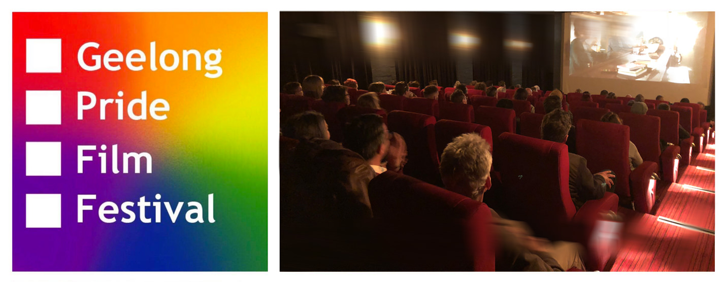 Geelong Pride Film Festival Audience and logo