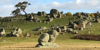 Granite Boulder landscape near Lancefield