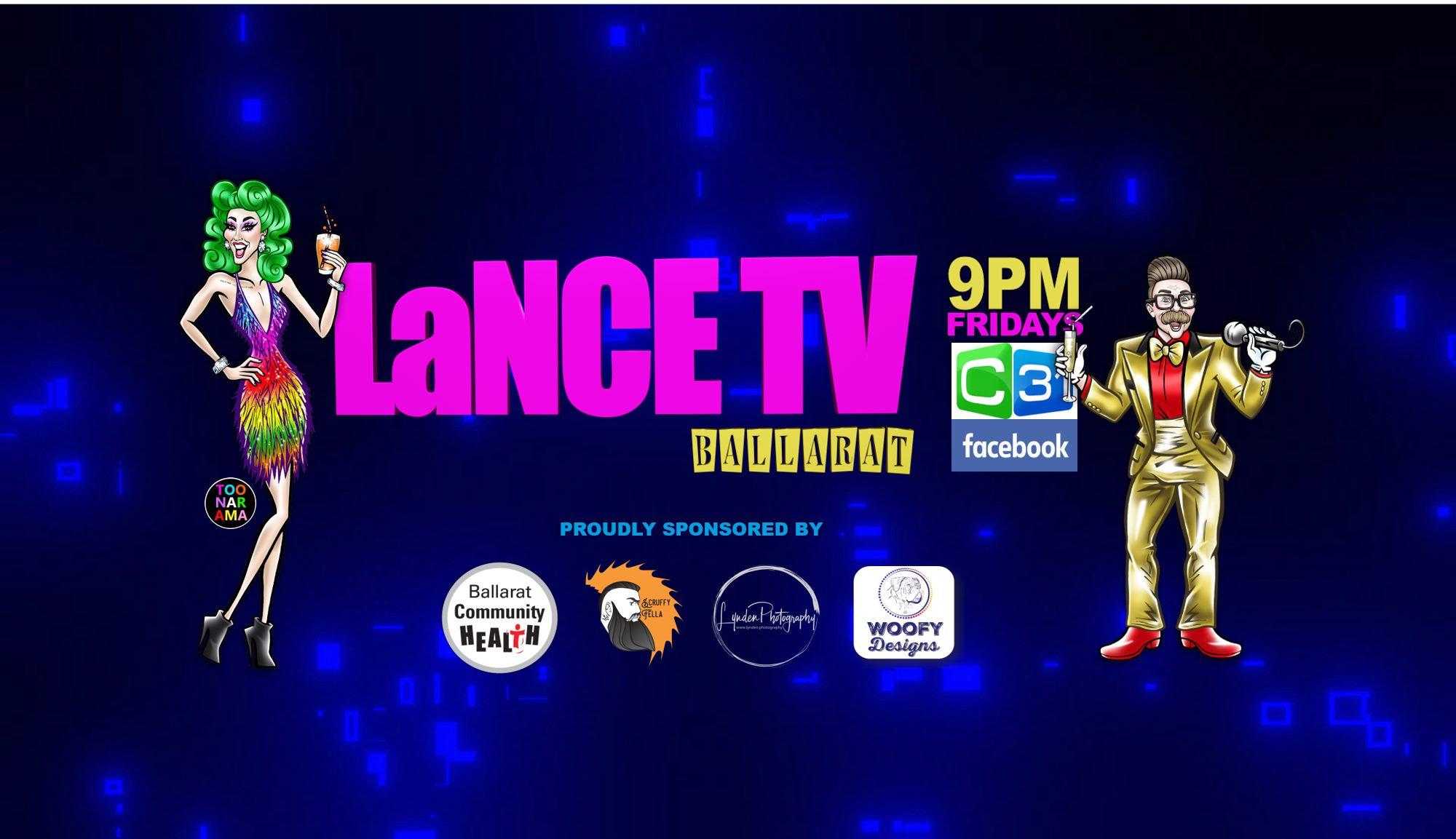 Graphic illustration of Lance De Boyle saying 'Lance TV'